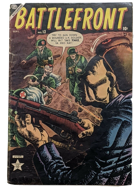 Battlefront #13 (Sept 1953, Atlas) VG 4.0 Joe Maneely cvr