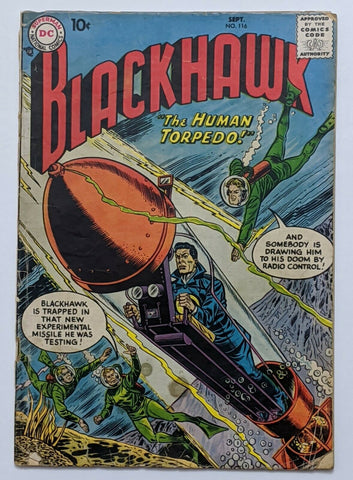 Blackhawk #116 (Sept 1957, DC) Good 2.0 Henry Boltinoff art