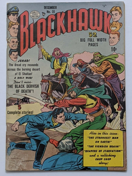 Blackhawk #35 (Dec 1950, Quality) Good+ 2.5