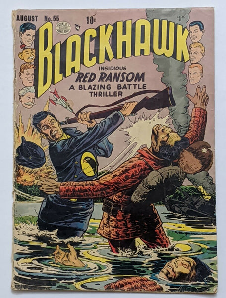 Blackhawk #55 (Aug 1952, Quality) Good 2.0 Reed Crandall cvr and art