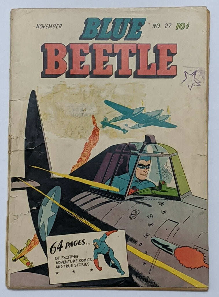 Blue Beetle #27 (Nov 1943, Holyoke) Fair/Good 1.5
