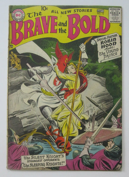 Brave and the Bold #13 (Aug/Sept 1957, DC) Joe Kubert art VG- 3.5