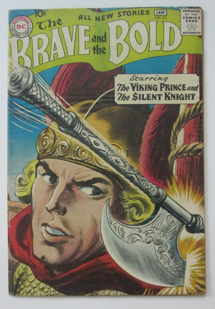Brave and the Bold #21 (Jan 1959, DC) Greytone cvr Joe Kubert art VG- 3.5