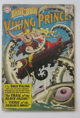 Brave and the Bold #24 (Jun/Jul 1959, DC) Viking Prince, Joe Kubert art G/VG 3.0