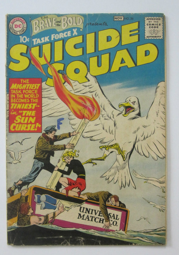 Brave and the Bold #26 (Oct/Nov 1959, DC) Suicide Squad VG- 3.5