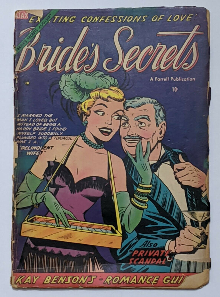 Bride's Secrets #3 (Sept 1954, Ajax) Fair/Good 1.5 Scarce Pre-Code Romance