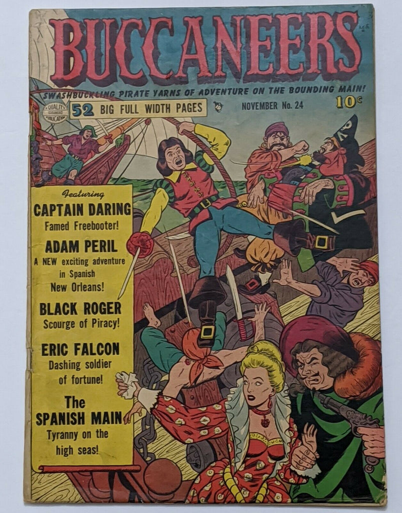 Buccaneers #24 (Nov 1950, Quality) VG 4.0