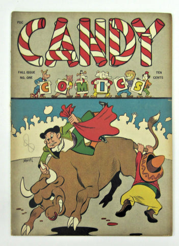 Candy Comics #1 (Fall 1944, Wm. H. Wise & Co.) Basil Wolverton art FN- 5.5