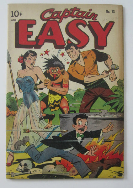 Captain Easy #13 (Jul 1948, Pines) Alex Schomburg bondage cvr FN+ 6.5