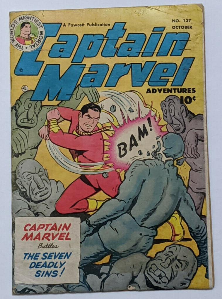 Captain Marvel Adventures #137 (Oct 1952, Fawcett) VG- 3.5