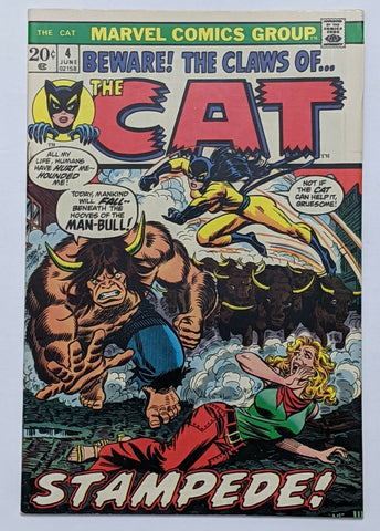 The Cat #4 (Jun 1973, Marvel) VF- 7.5 John Romita pencils on cvr