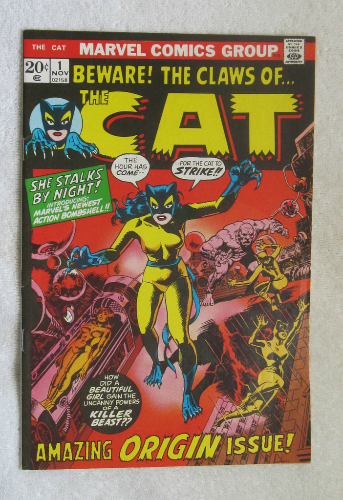 Complete Run of The Cat #1-4 (1972, Marvel) High Grade