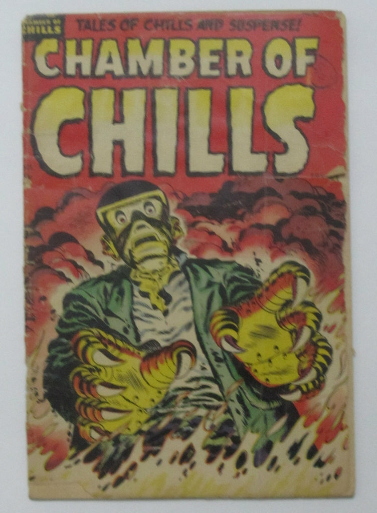Chamber of Chills #25 (Oct 1954, Harvey) GD- 1.8 Robot Cover