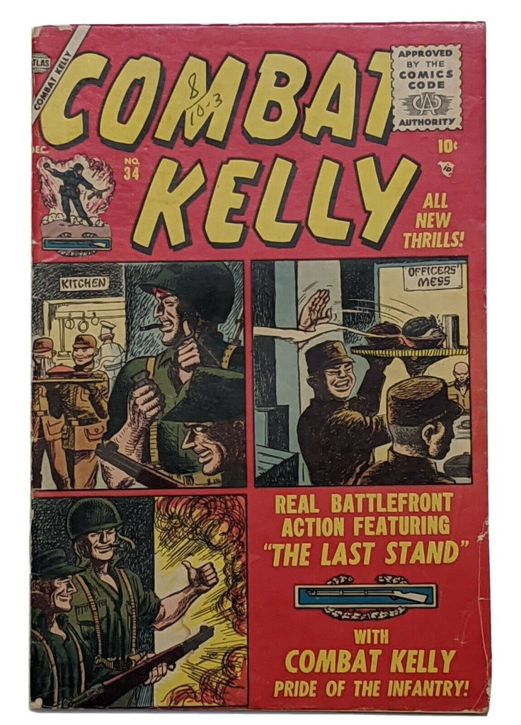 Combat Kelly #34 (Dec 1955, Atlas) VG- 3.5 Carl Burgos cvr