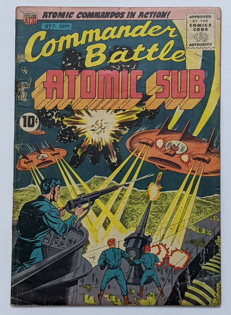 Commander Battle and The Atomic Sub #7 (Sept 1955, ACG) G/VG 3.0