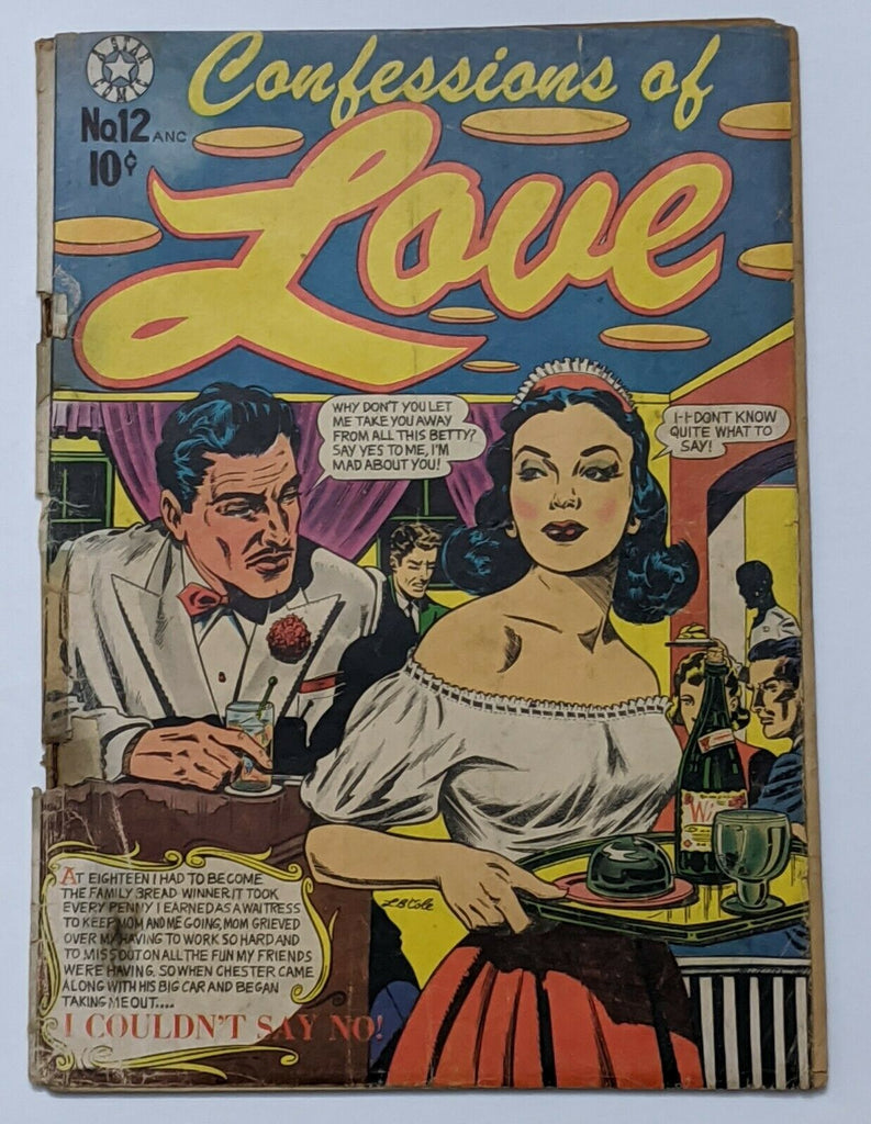 Confessions Of Love #12 (Oct 1952, Star) Fair/Good 1.5 L.B. Cole cvr Romance