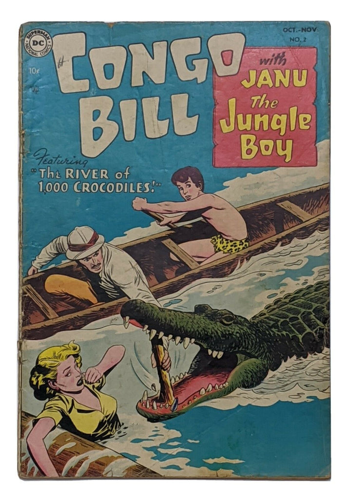 Congo Bill #2 (Nov 1954, DC) Good 2.0 Nick Cardy cvr Henry Boltinoff art