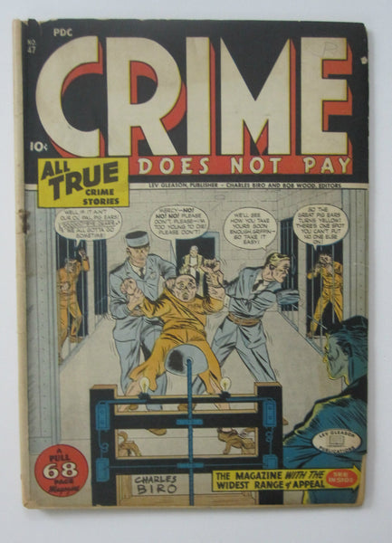 Crime Does Not Pay #47 (Sep 1946, Lev Gleason) GD- 1.8