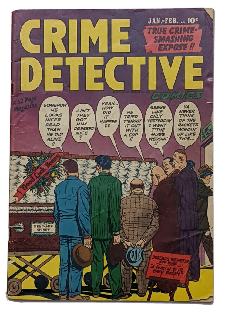 Crime Detective Comics Vol 2 No 6 (Feb 1951, Hillman) Fair 1.0
