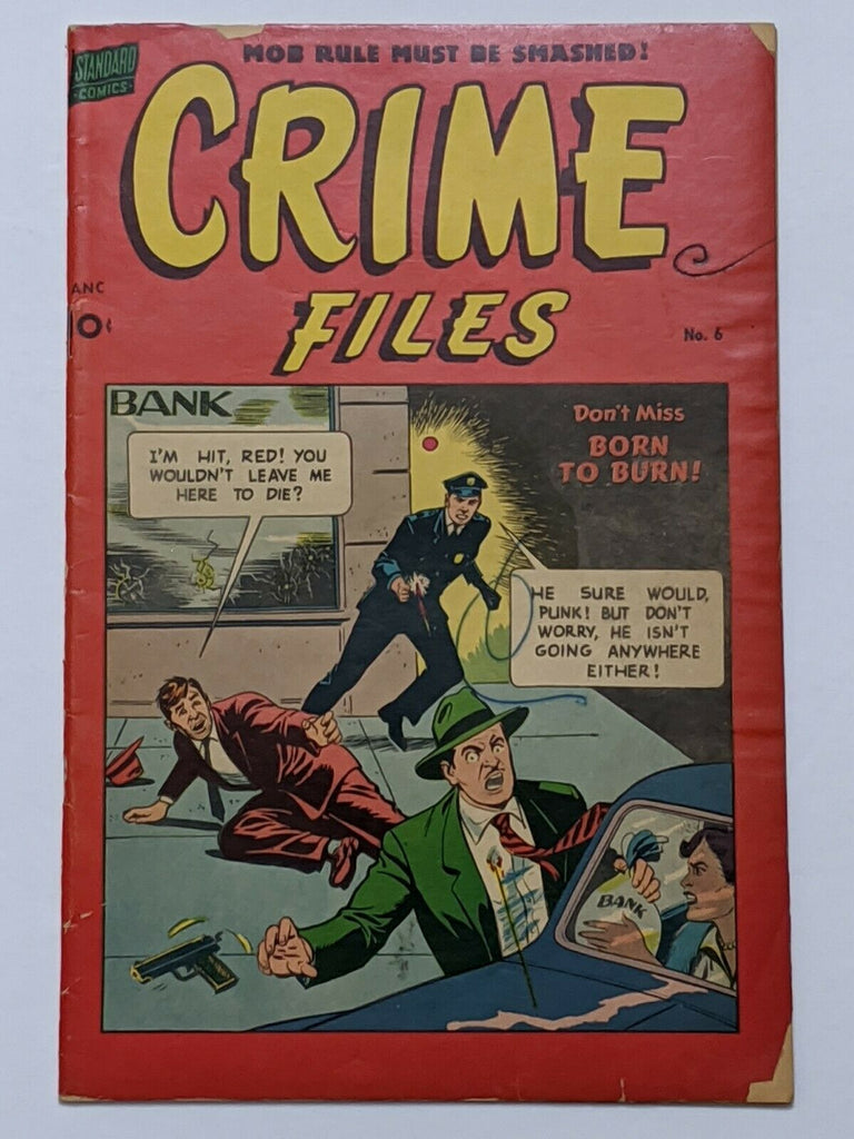 Crime Files #6 (Nov 1952, Standard) G/VG 3.0 Nick Cardy cvr