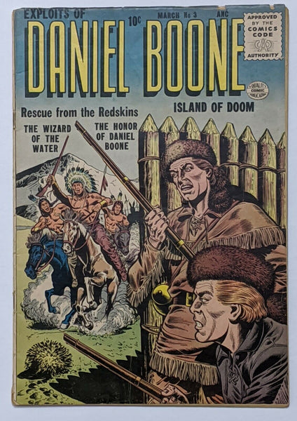 Exploits Of Daniel Boone #3 (Mar 1956, Quality) VG- 3.5