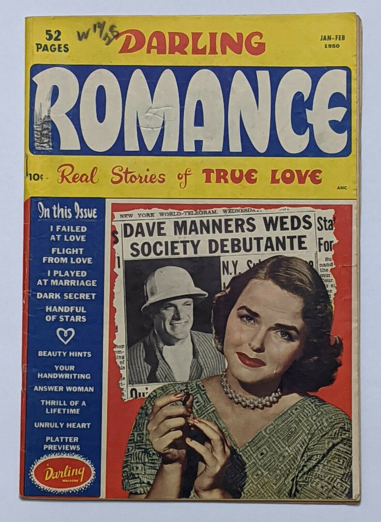 Darling Romance #3 (Feb 1950, Archie) VG 4.0 Photo cover