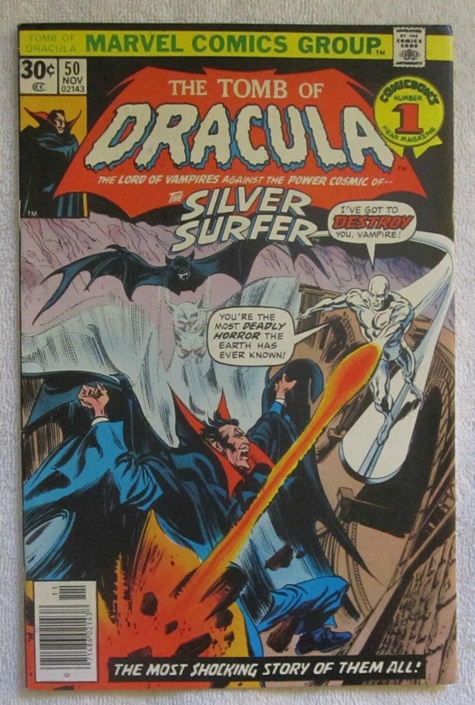 Tomb of Dracula #50 (Nov 1976, Marvel) Silver Surfer app VF- 7.5