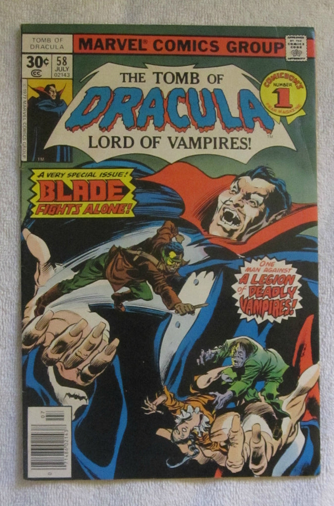 Tomb of Dracula #58 (Jul 1977, Marvel) Blade app VG+ 4.5