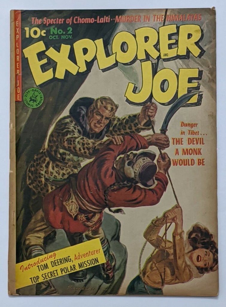 Explorer Joe #2 (Nov 1952, Ziff-Davis) Good+ 2.5 Norman Saunders painted cvr