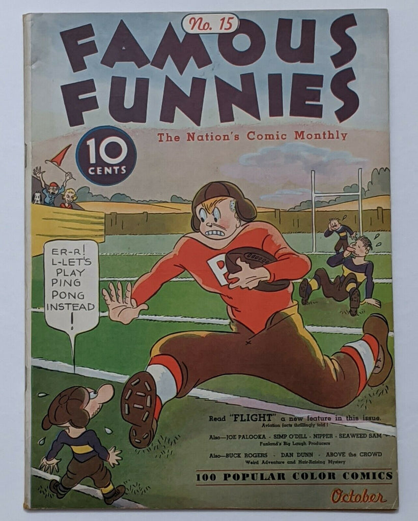Famous Funnies #15 (Oct 1935, Eastern Color) FN+ 6.5 Football cover