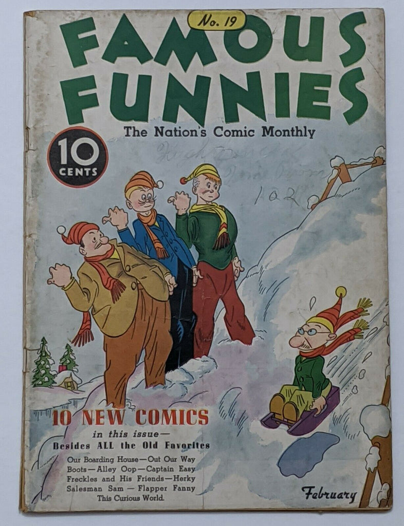 Famous Funnies #19 (Feb 1936, Eastern Color) G/VG 3.0