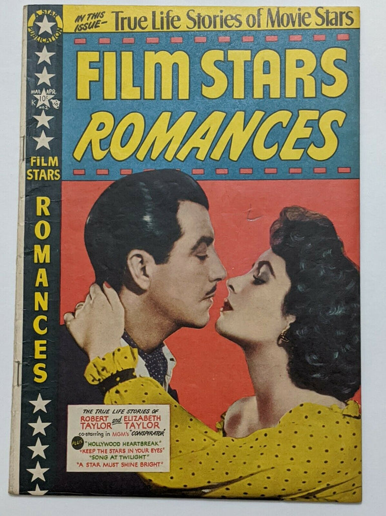 Film Star Romances #2 (April 1950, Star) VG/FN 5.0 Elizabeth Taylor cvr