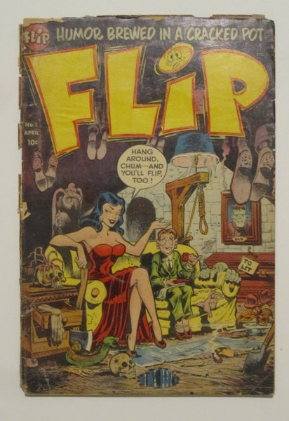 Flip #1 (Apr 1954, Harvey) Fair 1.0 Hanging cover
