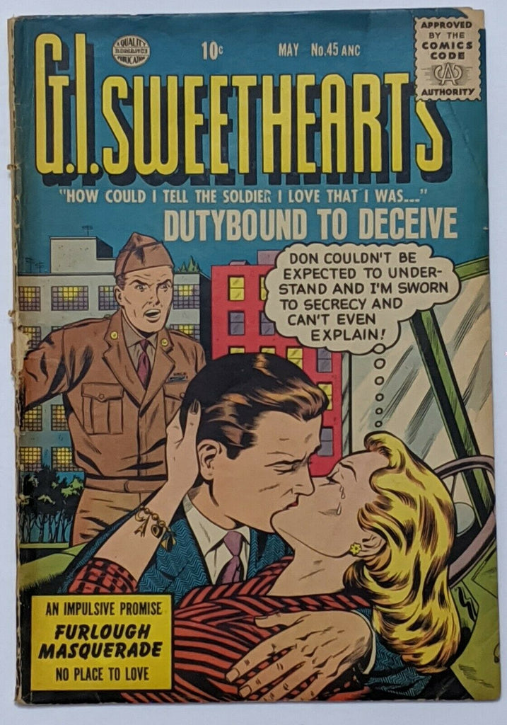 G.I. Sweethearts #45 (May 1955, Quality) Good 2.0 Last issue in the run
