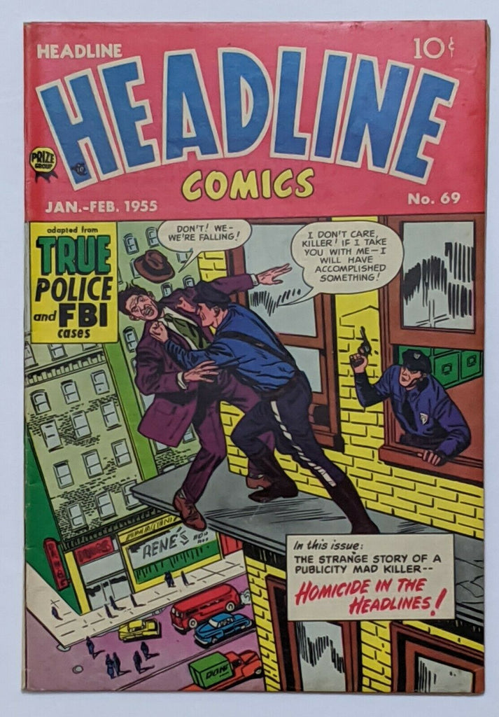 Headline Comics #69 (Feb 1955, Prize) VG/FN 5.0