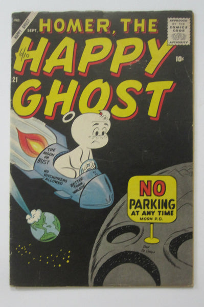Homer, The Happy Ghost #21 (Sep 1958, Marvel) Dan DeCarlo cvr and art VG/FN 5.0