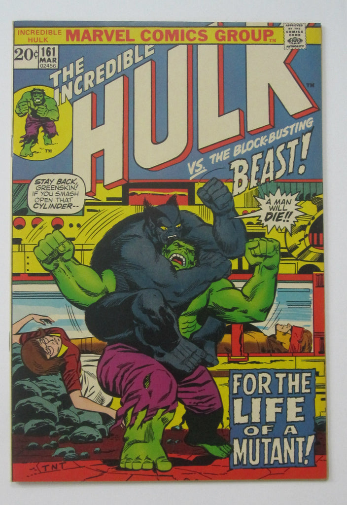 Incredible Hulk #161 (Mar 1973, Marvel) Beast app NM- 9.2