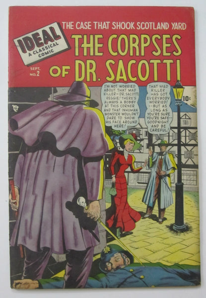 Ideal #2 The Corpses of Dr. Sacotti (Sep 1948, Timely) VF- 7.5