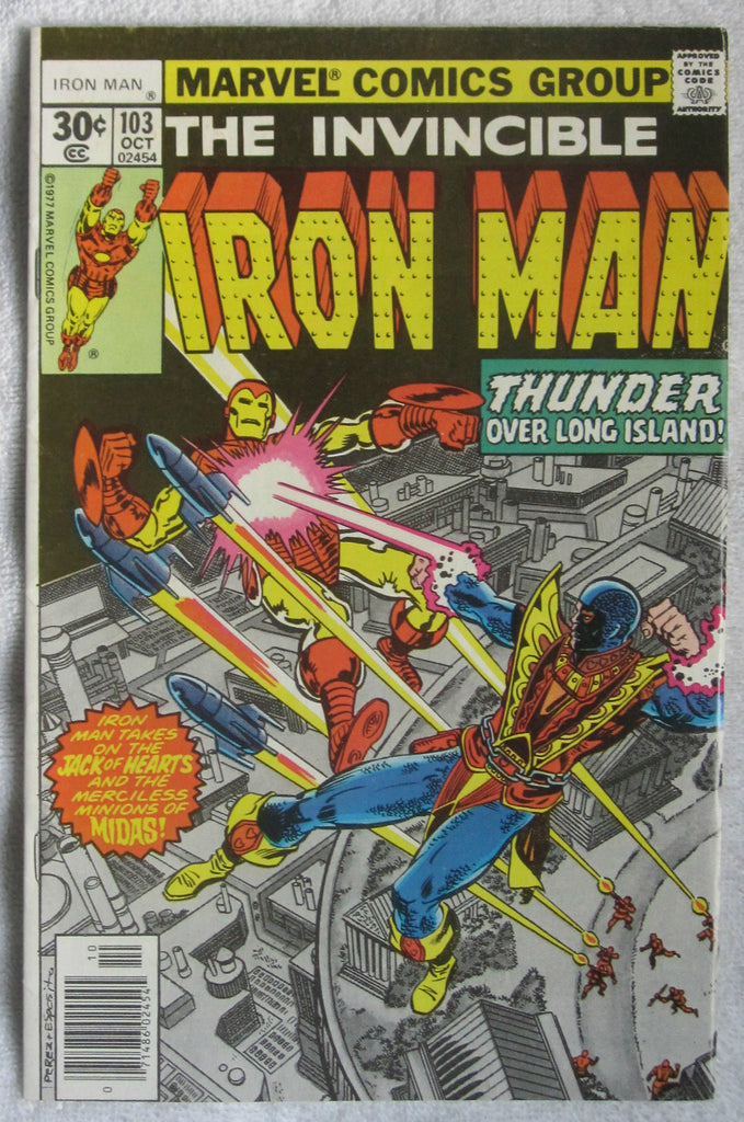 Iron Man #103 (Oct 1977, Marvel) Jack of Hearts app FN 6.0