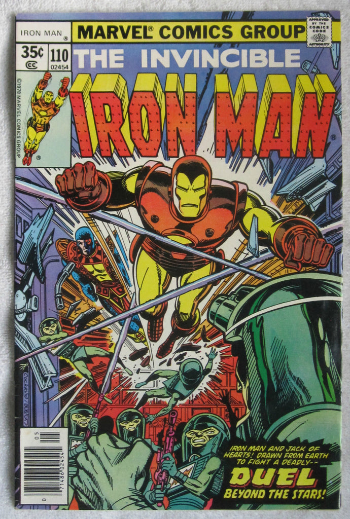 Iron Man #110 (May 1978, Marvel) Jack of Hearts origin retold VF- 7.5
