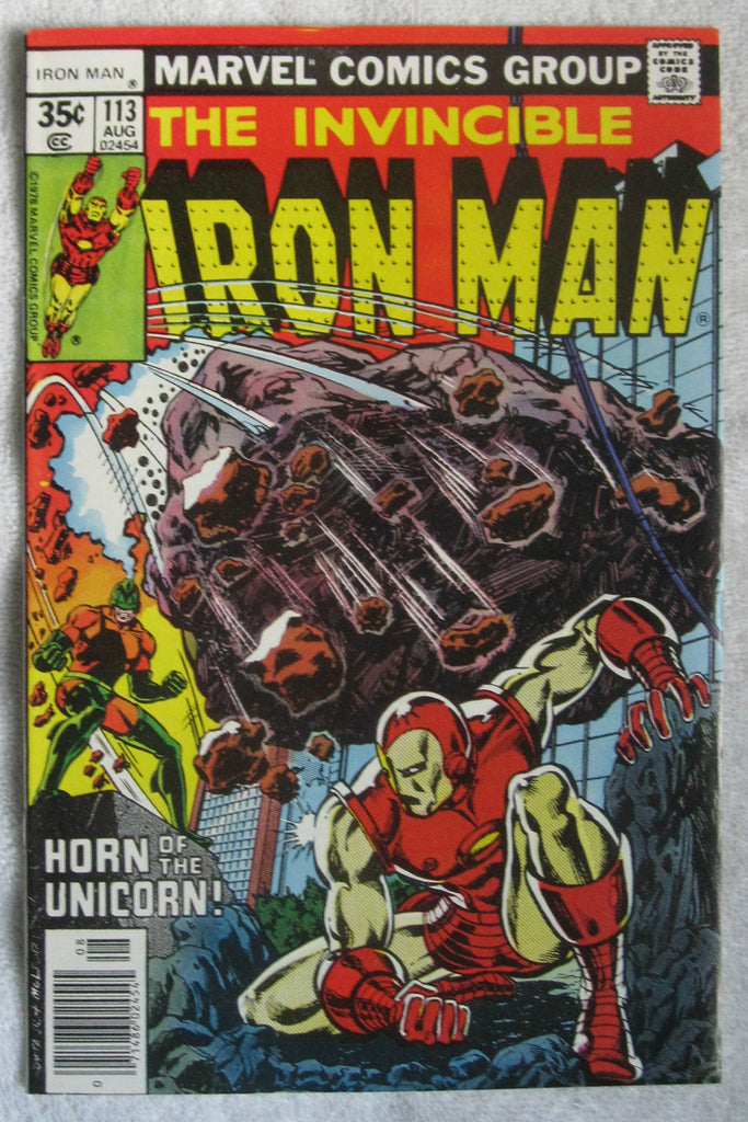 Iron Man #113 (Aug 1978, Marvel) Unicorn and Titanium Man app VF 8.0