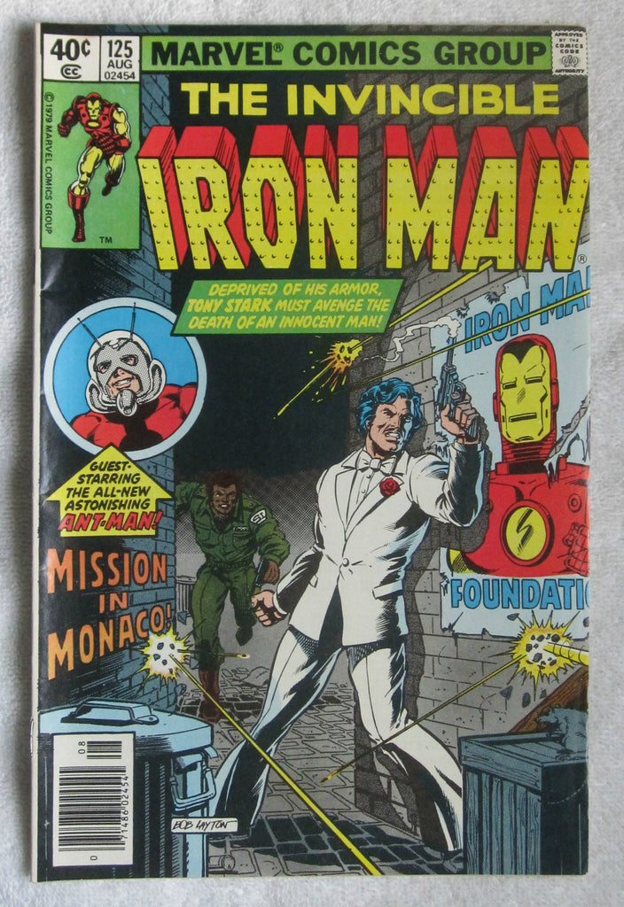 Iron Man #125 (Aug 1979, Marvel) Avengers and Ant-Man app VF- 7.5