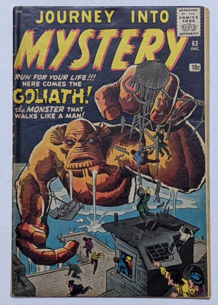 Journey Into Mystery #63 (Dec 1960, Atlas) VG+ 4.5 Jack Kirby Steve Ditko cover
