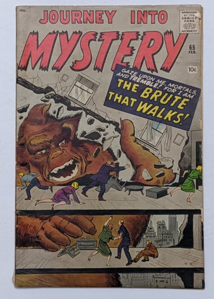 Journey Into Mystery #65 (Feb 1961, Atlas) VG+ 4.5 Jack Kirby Steve Ditko cover and art