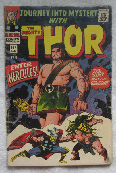 Journey into Mystery #124 (Jan 1966, Marvel) Hercules app Good 2.0