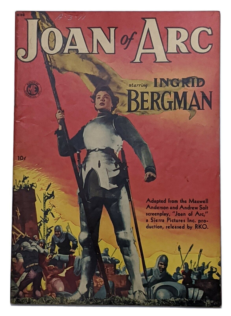Joan of Arc (A-1 #21) Apr 1949 Magazine Ent. Ingrid Bergman photo cvr FN 6.0