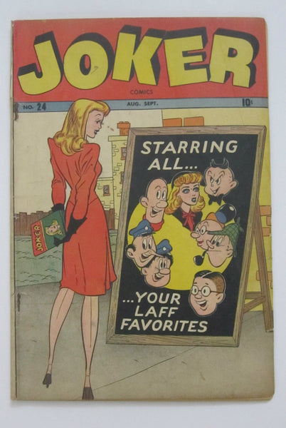 Joker Comics #24 (Aug-Sep 1946, Marvel) Wolverton and Kurtzman art Good 2.0