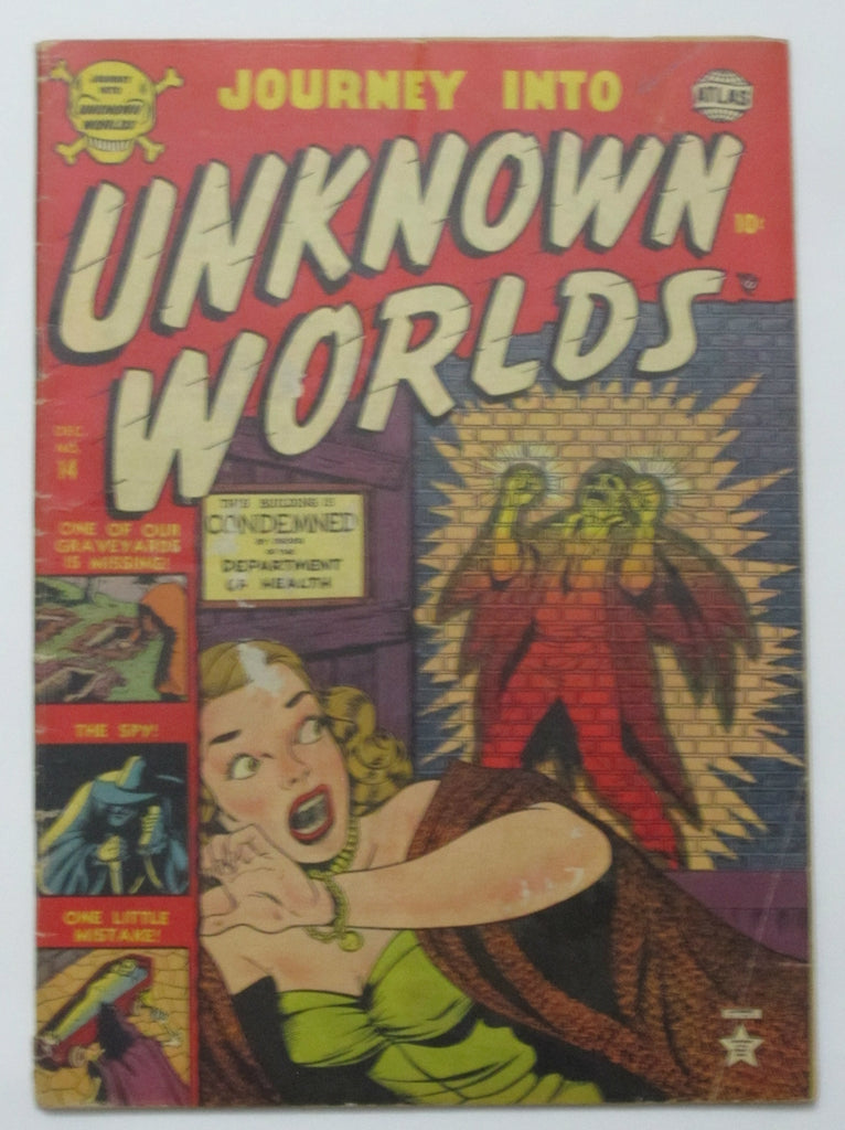 Journey Into Unknown Worlds #14 (Dec 1952, Atlas) G.VG 3.0