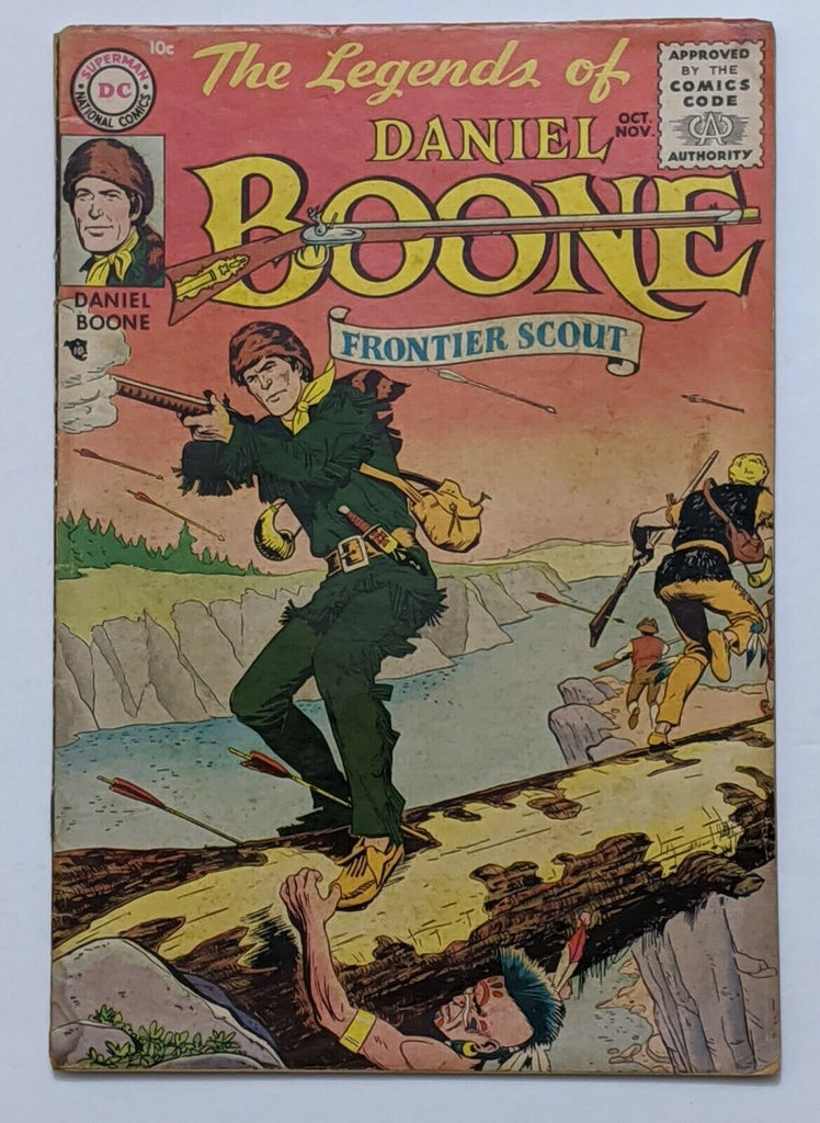 The Legends Of Daniel Boone #1 (Nov 1955, DC) VG 4.0 Nick Cardy cvr and art