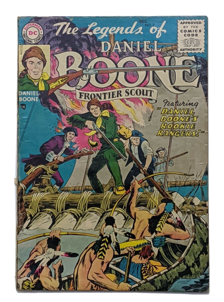 The Legends Of Daniel Boone #2 (Jan 1956, DC) Good 2.0 Nick Cardy art